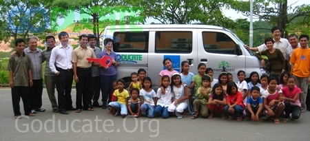 A new van for the Goducate Learning Center in Batam Indonesia