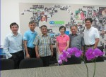Mr T Sihombing (3rd from left) at Goducate Headquarters