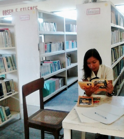 Angelica in the library